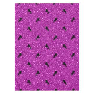 Toalha De Mesa rosa do teste padrão do unicórnio