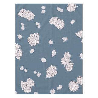 Toalha De Mesa Rosas azuis e brancos