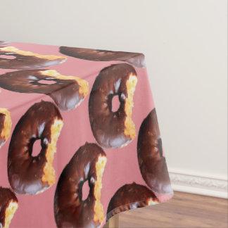 Toalha De Mesa Rosquinha do bolo amarelo do fosco do chocolate