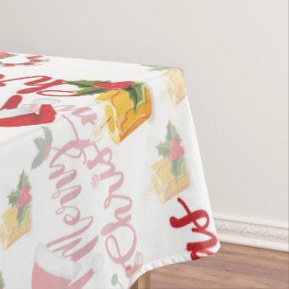 Toalha De Mesa Roteiro da caligrafia do Feliz Natal