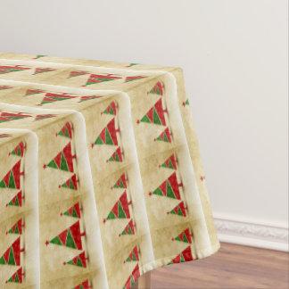 Toalha De Mesa Rústico, aguarela, árvores de Natal, feriado