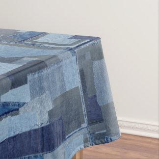 Toalha De Mesa Sarja de Nimes azul Shibori dos retalhos de Boro