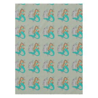 Toalha De Mesa Sereia com golfinho