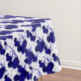 Toalha De Mesa Splatter moderno da pintura do abstrato azul do