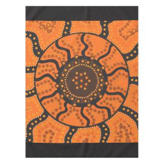 Toalha De Mesa Tablecloth alaranjado do aborígene de Sun