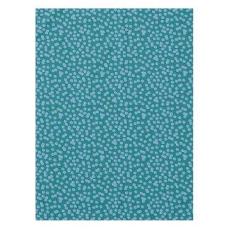 """Toalha De Mesa Tablecloth azul 52"""" do algodão das bolinhas x 70"""""""