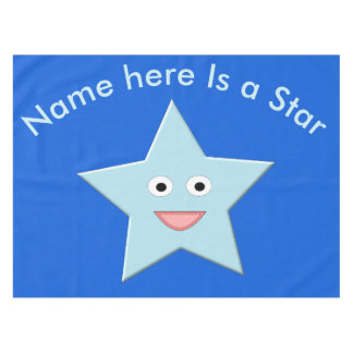 Toalha De Mesa Tablecloth azul brilhante do costume da estrela da