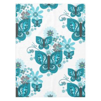 Toalha De Mesa Tablecloth (azul) das borboletas & das flores