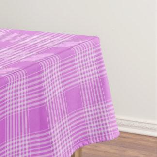 Toalha De Mesa Tablecloth Checkered da xadrez roxa e branca