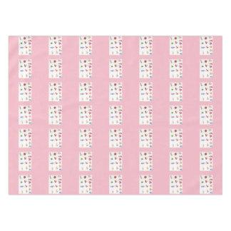 Toalha De Mesa Tablecloth cor-de-rosa dos doces