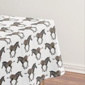 Toalha De Mesa Tablecloth da agitação da zebra do bebê (branco)