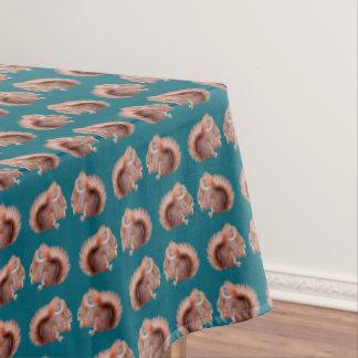 Toalha De Mesa Tablecloth da agitação do esquilo vermelho