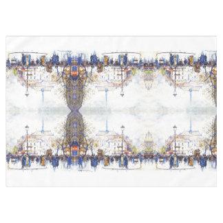 Toalha De Mesa Tablecloth da cena da rua do impressionismo de