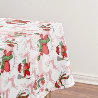 Toalha De Mesa Tablecloth da decoração da casa do boneco de neve