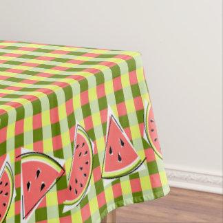 Toalha De Mesa Tablecloth da verificação das partes da melancia