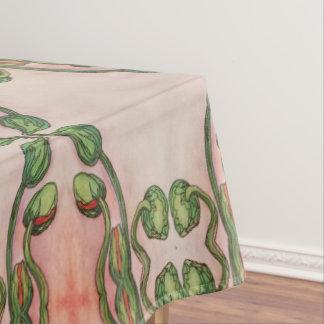Toalha De Mesa tablecloth das flores em botão da papoila