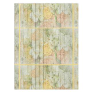 Toalha De Mesa Tablecloth de madeira rústico floral do casamento
