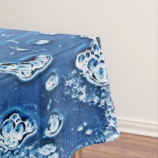 Toalha De Mesa Tablecloth do abstrato do azul da água de gelo das