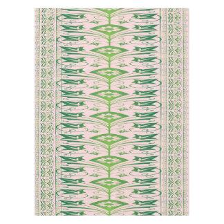 Toalha De Mesa Tablecloth floral cor-de-rosa verde do algodão do