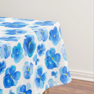 Toalha De Mesa Tablecloth floral da flor do amor perfeito azul da
