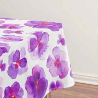 Toalha De Mesa Tablecloth floral da flor do amor perfeito roxo da