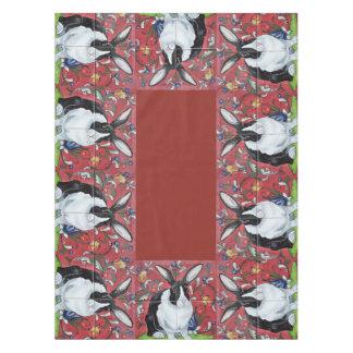 Toalha De Mesa Tablecloth floral telhado vermelho do feriado do