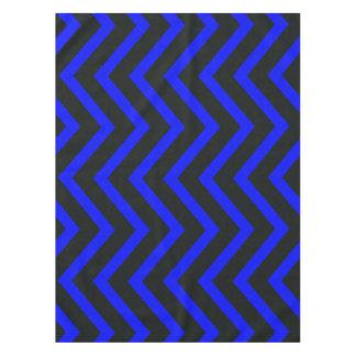 Toalha De Mesa Tablecloth na moda azul preto de Chevron