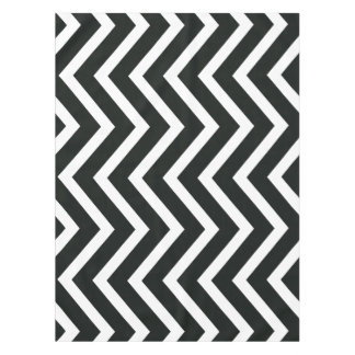 Toalha De Mesa Tablecloth na moda branco preto de Chevron
