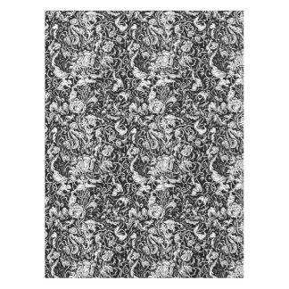 Toalha De Mesa Tablecloth preto e branco do jardim grotesco