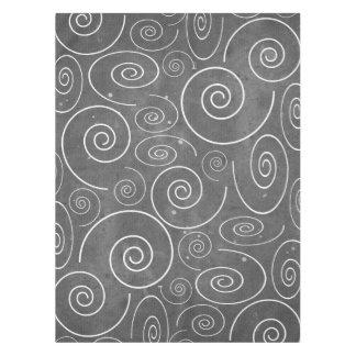 Toalha De Mesa Tablecloth preto e branco gótico das espirais dos