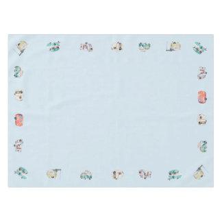 Toalha De Mesa Tablecloth retro do campista da aguarela do