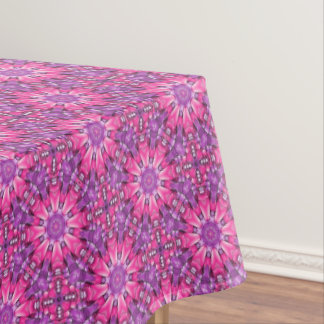 Toalha De Mesa Tablecloth roxo cor-de-rosa do caleidoscópio do