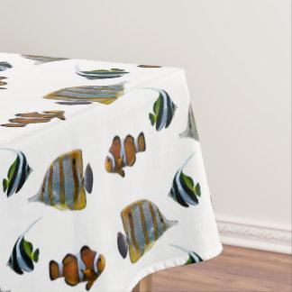Toalha De Mesa Tablecloth tropical da agitação dos peixes