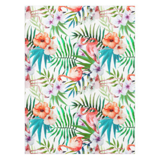 Toalha De Mesa Tablecloth tropical do hibiscus do flamingo