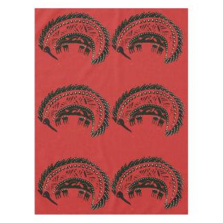 Toalha De Mesa Tablecloth vermelho dos Echidnas
