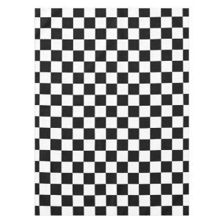 Toalha De Mesa Tabuleiro de damas preto e branco