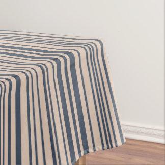 Toalha De Mesa Teste padrão à moda bege/profundamente azul da