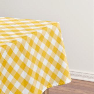 Toalha De Mesa Teste padrão amarelo da verificação do guingão