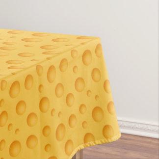 Toalha De Mesa Teste padrão amarelo do queijo