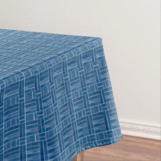 Toalha De Mesa Teste padrão azul do olhar dos azulejos