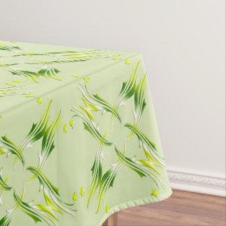Toalha De Mesa Teste padrão barroco do verde limão do estilo