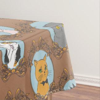 Toalha De Mesa Teste padrão bonito dos gatos