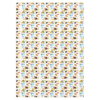 Toalha De Mesa Teste padrão bonito dos miúdos dos animais