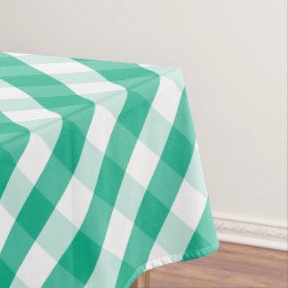 Toalha De Mesa Teste padrão branco verde simples do guingão de St