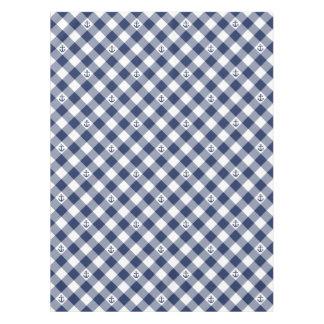 Toalha De Mesa Teste padrão checkered náutico diagonal do guingão