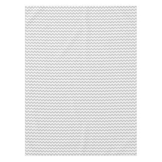 Toalha De Mesa Teste padrão cinzento e branco de Chevron do