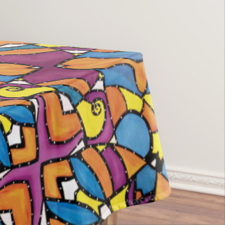 Toalha De Mesa Teste padrão colorido abstrato moderno