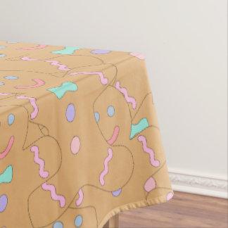 Toalha De Mesa Teste padrão colorido bonito do homem de