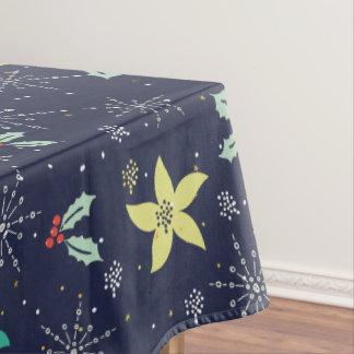Toalha De Mesa Teste padrão colorido dos flocos de neve & de