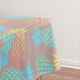 Toalha De Mesa teste padrão colorido tropical do abacaxi do verão